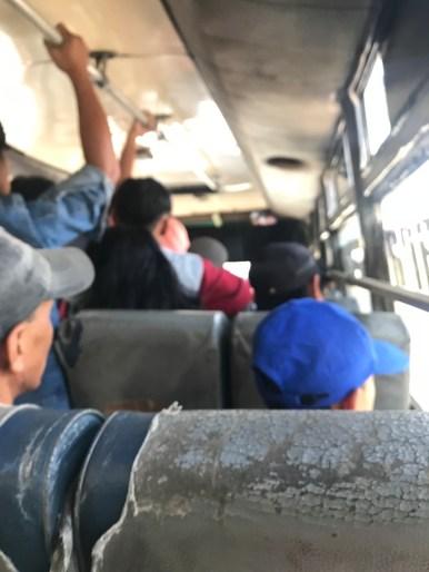 Minibus local entre Semarang et Jepara