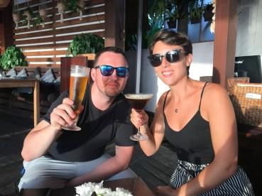Avec Justin, le mari de Nadiejda