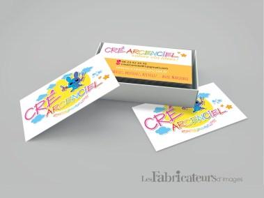 Création carte de visite Cré Arc En Ciel - Les Fabricateurs d'images