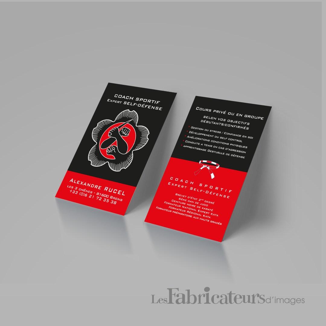 Création carte de visite Coach Sportif - Les Fabricateurs d'images