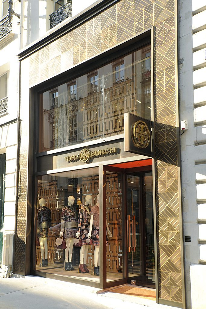 The façade of the boutique on Rue Saint-Honoré.
