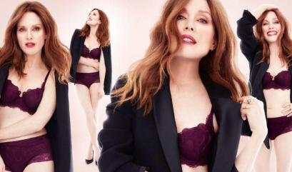 FLORALE BY TRIUMPH FALL 2017 AD CAMPAIGN FEATURING JULIANNE MOORE