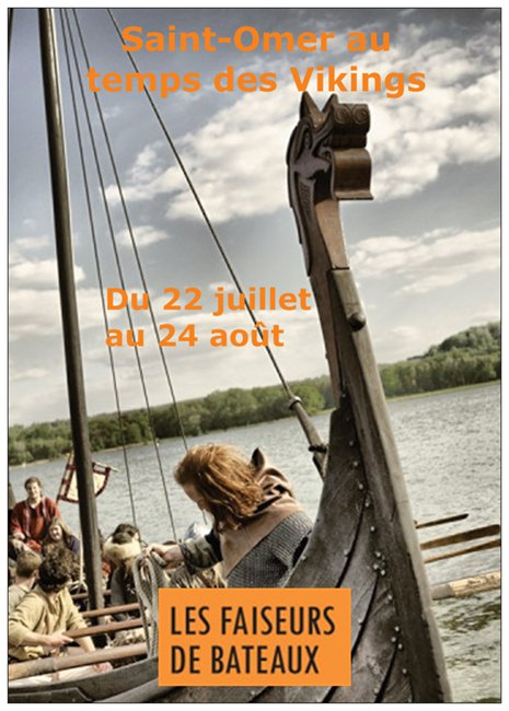 Affiche expo Saint-Omer au temps des vikings