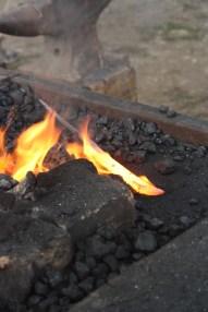 Une lame de trophée au feu