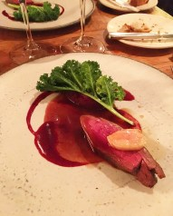 Berkshire Deer, Smoked Bone Marrow, Beetroot & Kale