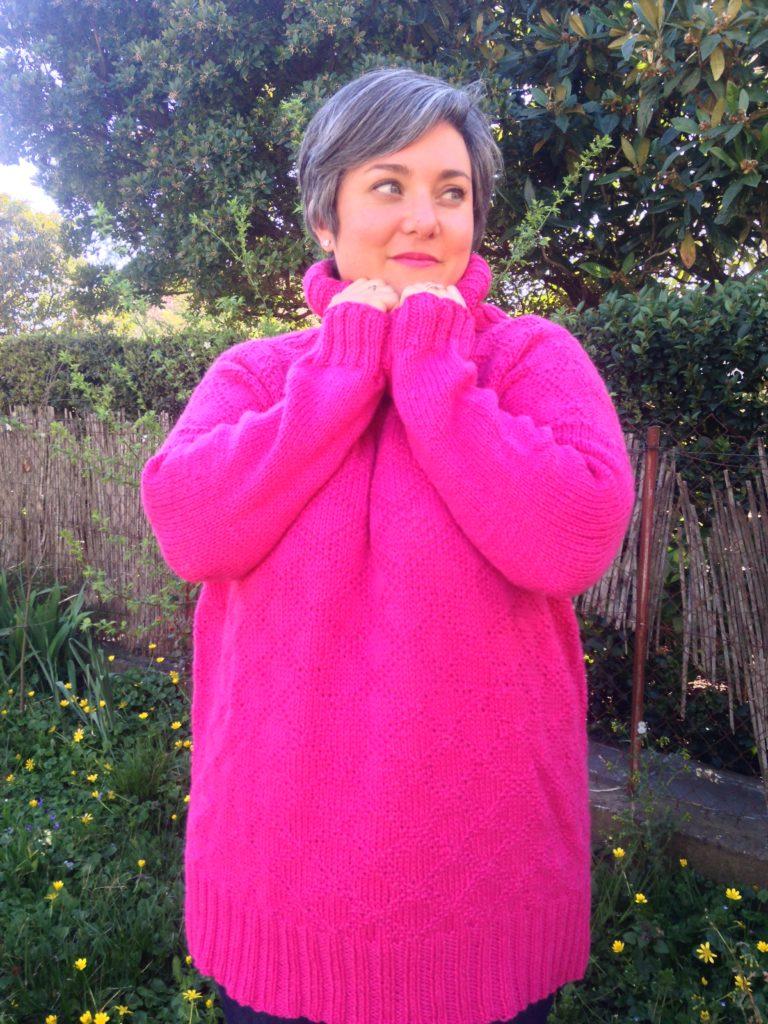 Je suis très contente d'avoir tricoté le pull Kingston Tunic : c'est un de mes pulls préférés !