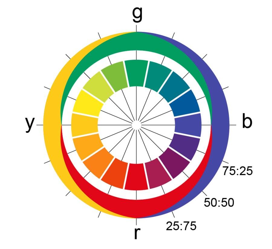le cercle chromatique de Hering, comprendre le test de colorimétrie