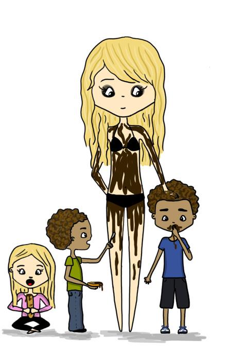 Heidi Klum et le chocolat