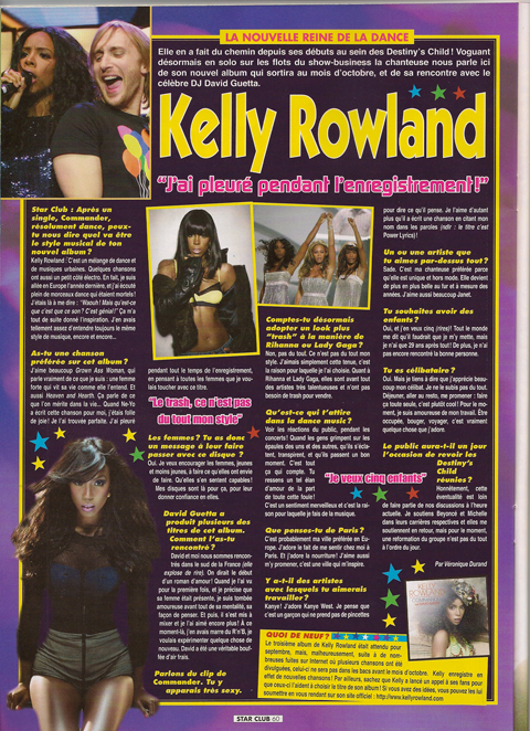 Interview Kelly Rowland