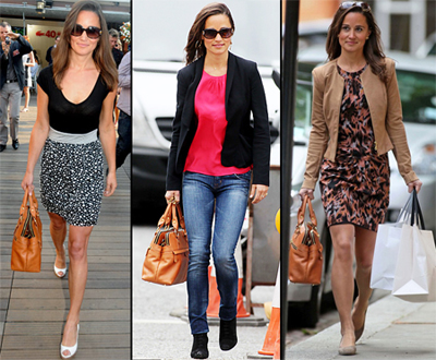 Pippa Middleton et son sac à main Modula London