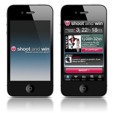Application mobile SHOOT AND WIN