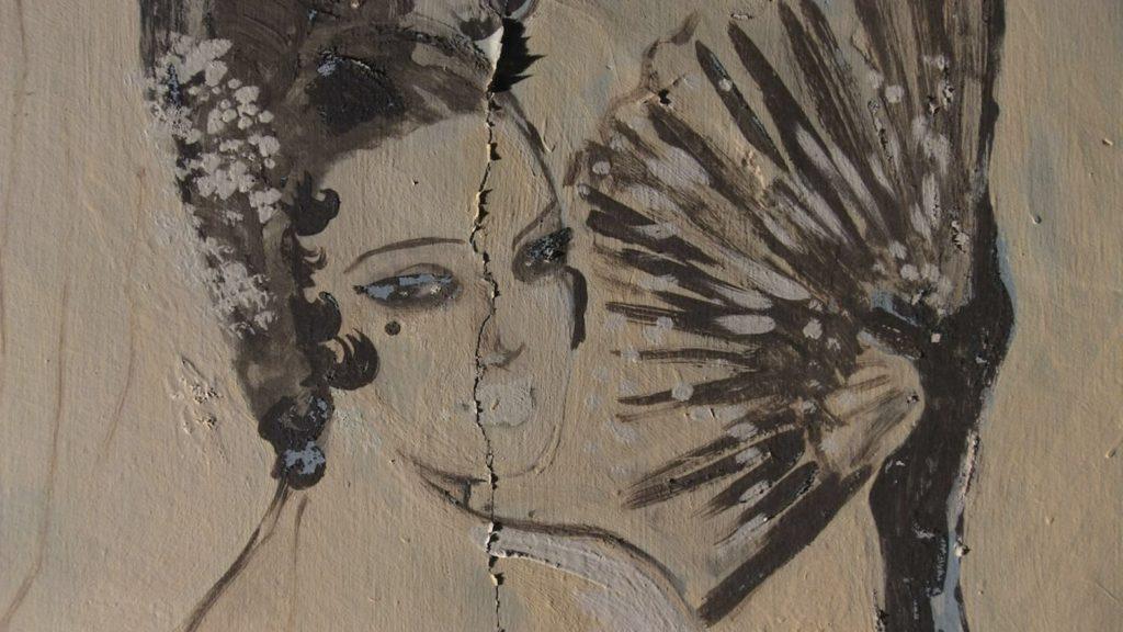 Fresque murale de l'hôtel Belvédère du Rayon Vert à Cerbère. Image du film Cerbère, produit par Ménage a trois productions, réalisé par Olivier Moulaï
