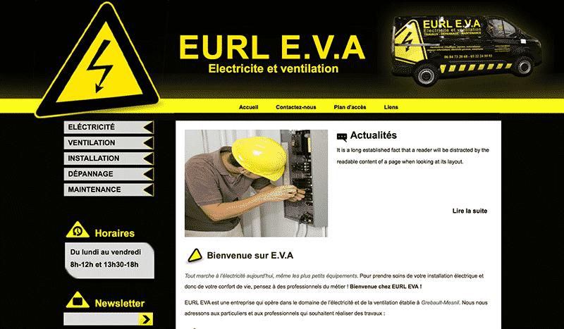 Electricien pour installation, dépannage et maintenance : EURL EVA