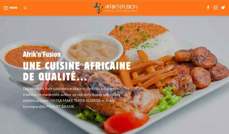 Afrik'N'Fusion, le restaurant, fast food, traiteur africain à Paris