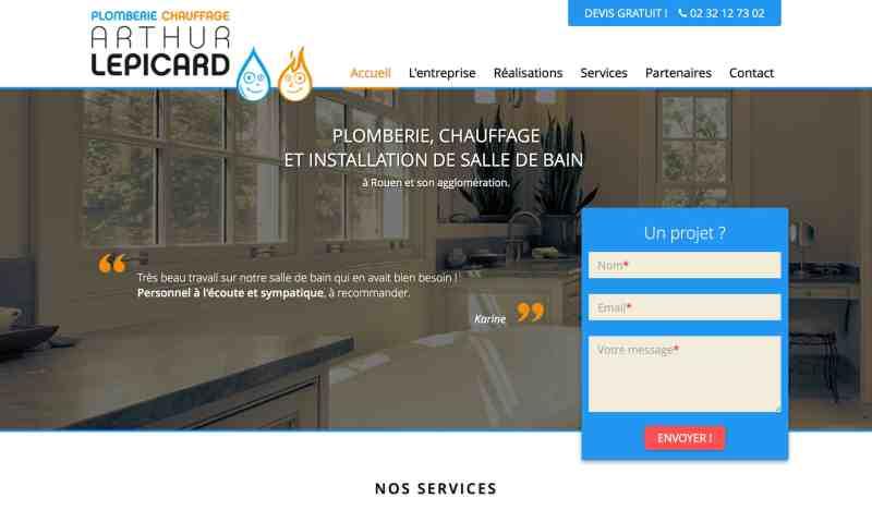 Plombier Chauffagiste à Rouen : Arthur Lepicard