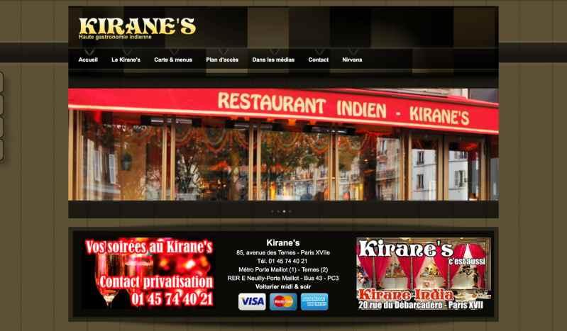 Restaurant Kirane's de la Porte Maillot, gastronomie indienne