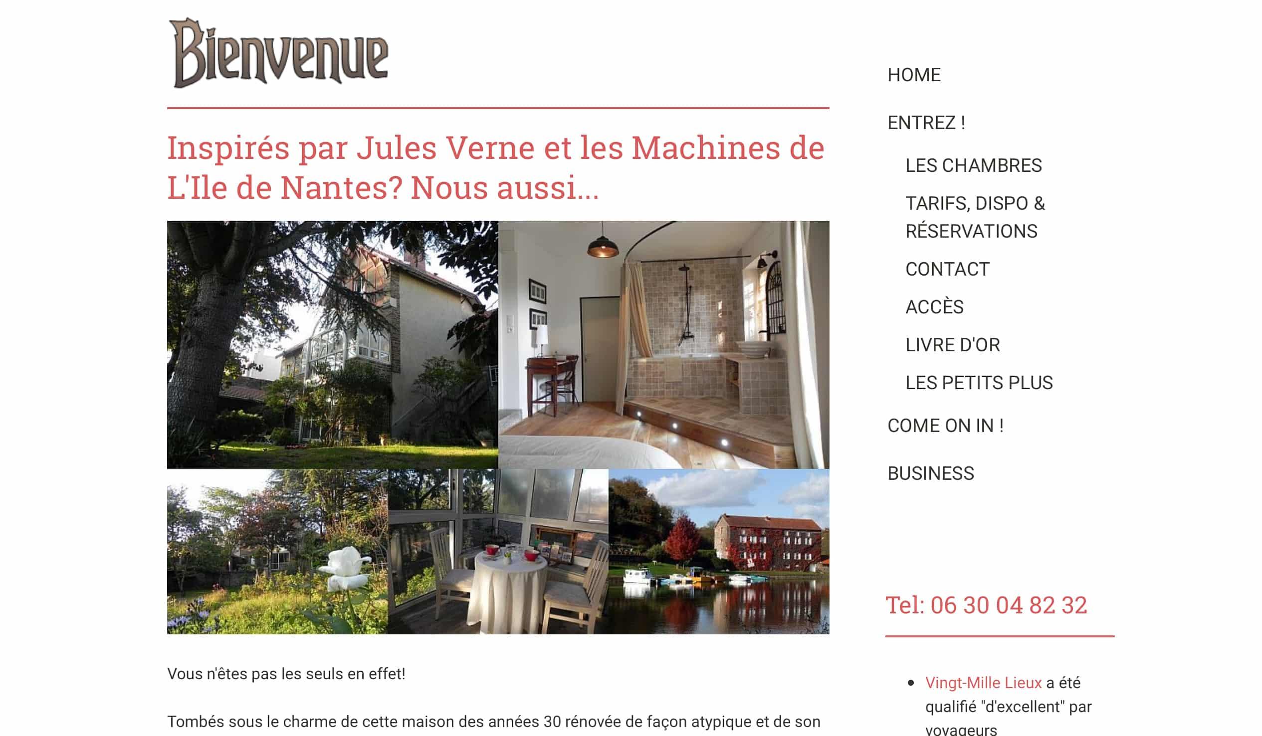 Vingt Mille Lieux Chambres d h´tes pr¨s de Nantes