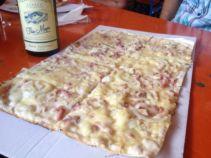 La tarte flambée gratinée du messti Oberhaslach