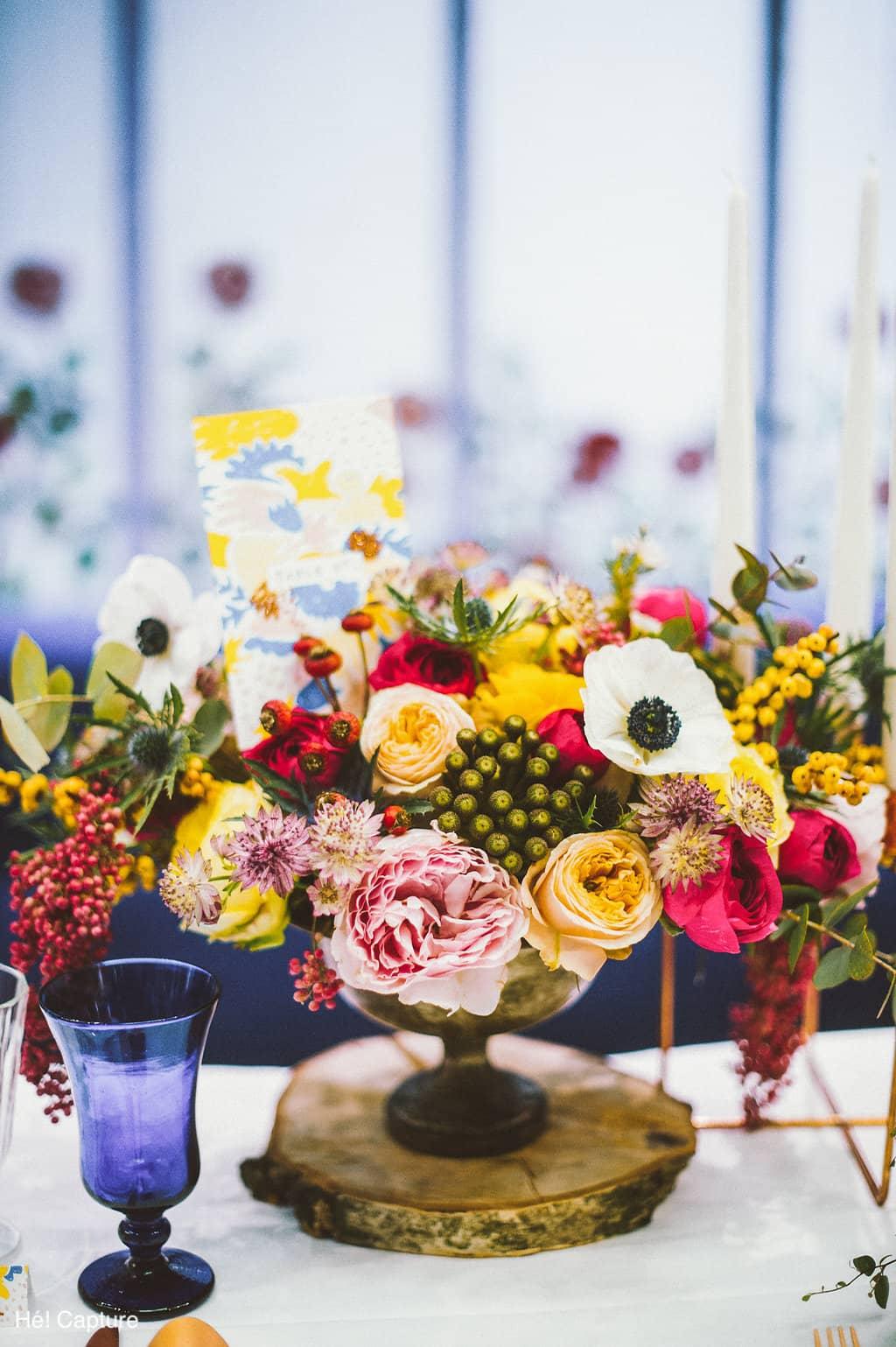 lieu-reception-coupe-fleurie-chic-colore-mariage