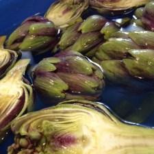 artichaut frit (carciofi alla giudia)