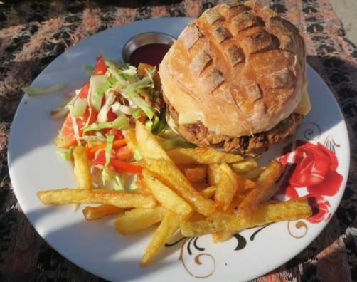 Mushroom veg. burger