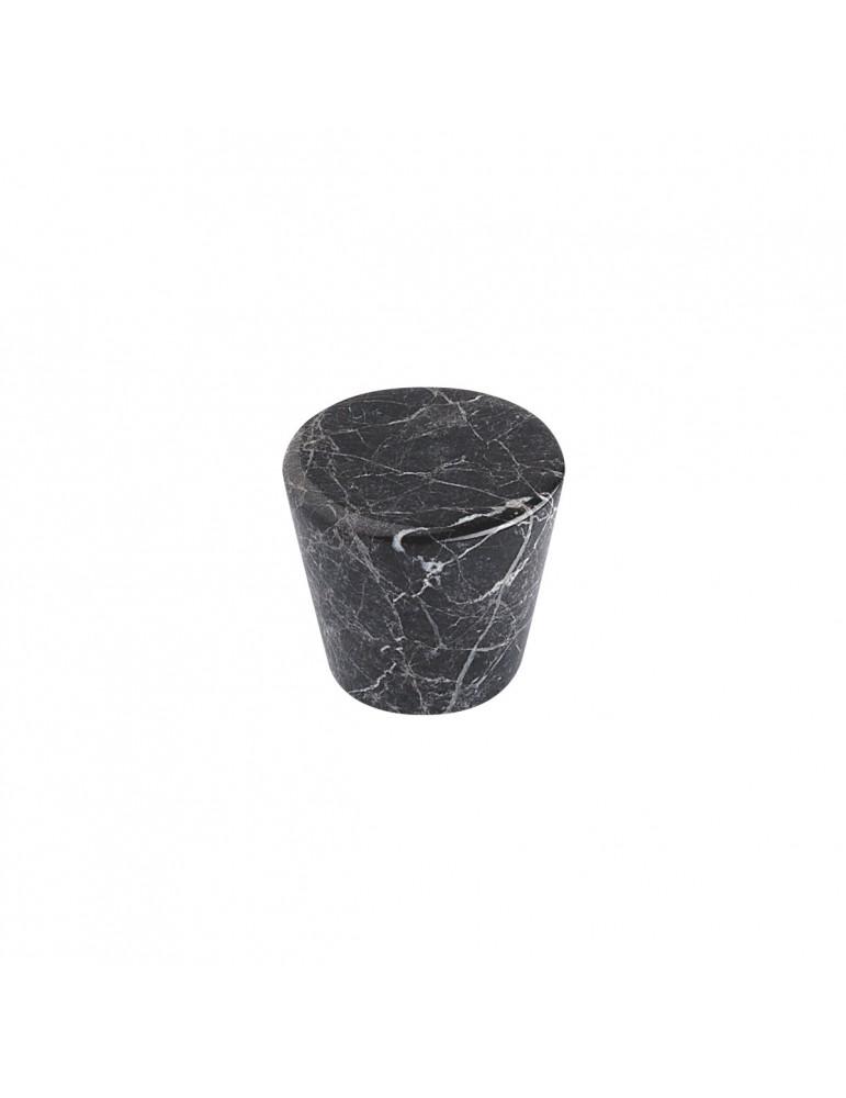 bouton de meuble conique marbre noir