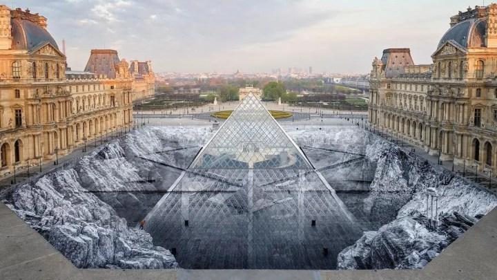 Une oeuvre éphémère magistrale pour les 30 ans de la Pyramide du Louvre
