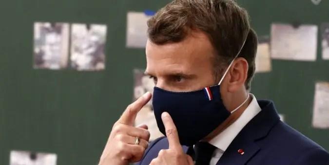 """""""L'État et le contribuable français n'ont pas vocation à payer des masques pour tout le monde, tout le temps. Cela doit rester une politique sociale"""" - Emmanuel Macon, président de la République"""