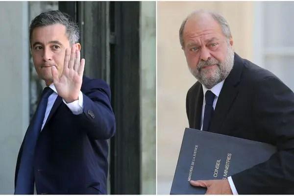 """En déplacement dans le Val-de-Marne, le ministre de l'Intérieur a répondu au Garde des Sceaux, Dupond-Moretti, qui a critiqué son emploi du terme d'""""ensauvagement"""". """"On peut être en désaccord sur les mots, on est d'accord sur les actions communes"""", veut croire Gérald Darmanin"""