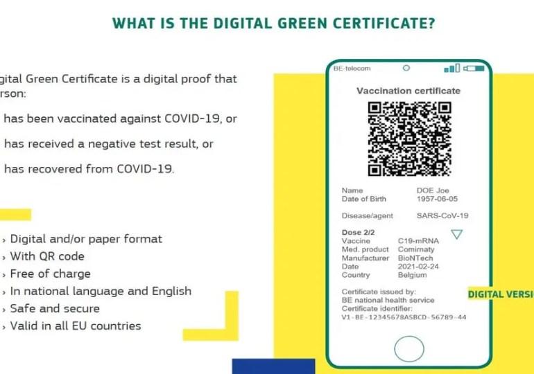 Certificat vert numérique : le Conseil de l'UE est prêt à négocier