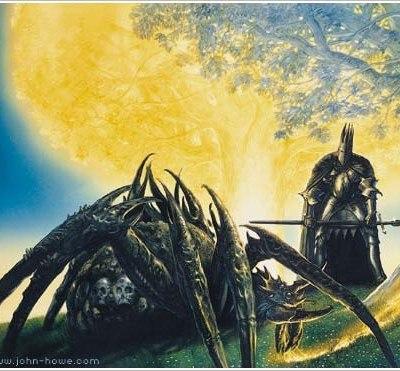 Morgoth et Ungoliant tuant les Deux Arbres de Valinor