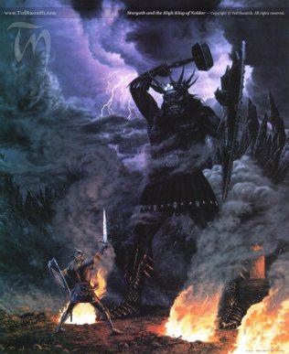 Le haut roi des Noldor face a Morgoth