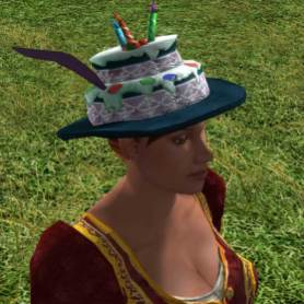 Chapeau gâteau décoré - 10 jetons