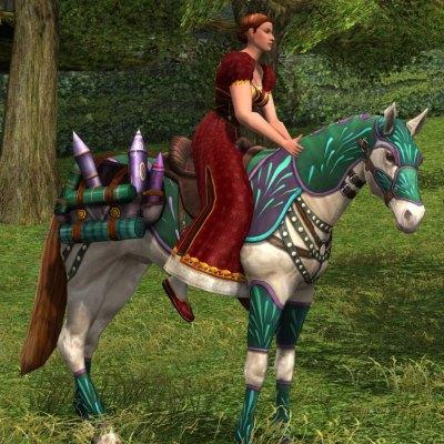 Cheval feu d'artifice turquoise - 20 jetons