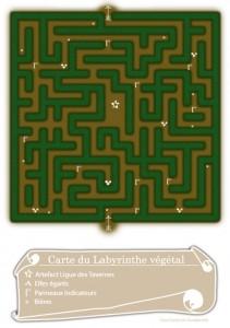 Carte du Labyrinthe végétal 2014