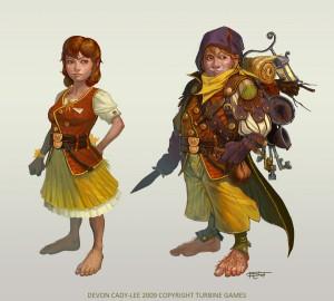 Deux Hobbits, prêts pour l'aventure
