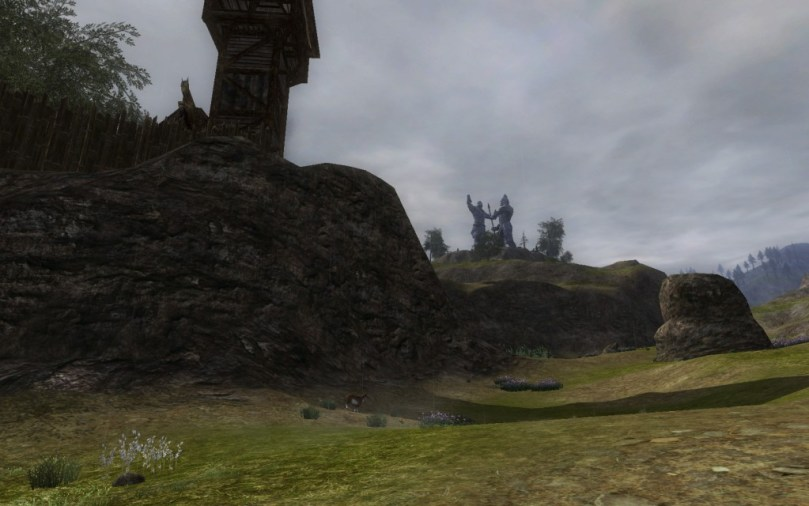 Derrière Stangarde, au loin, en direction de Frithstan