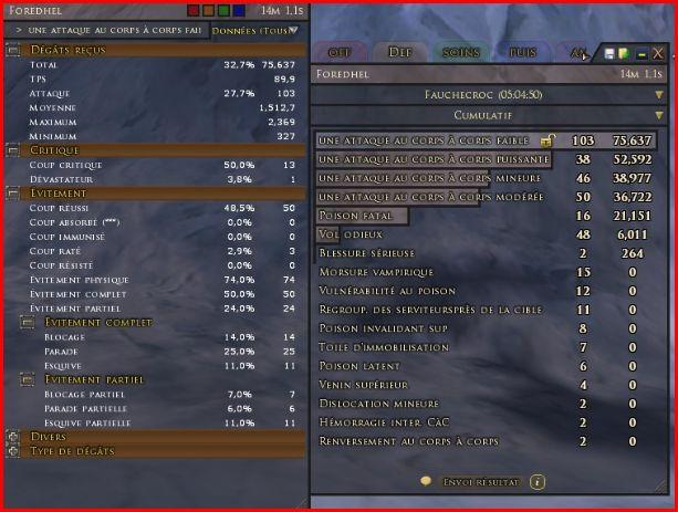 Combat Analitycs - Fauchecroc cac