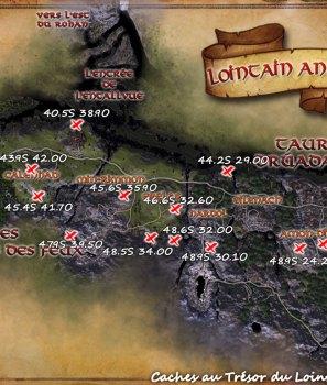 Les caches au trésor du Lointain Anórien