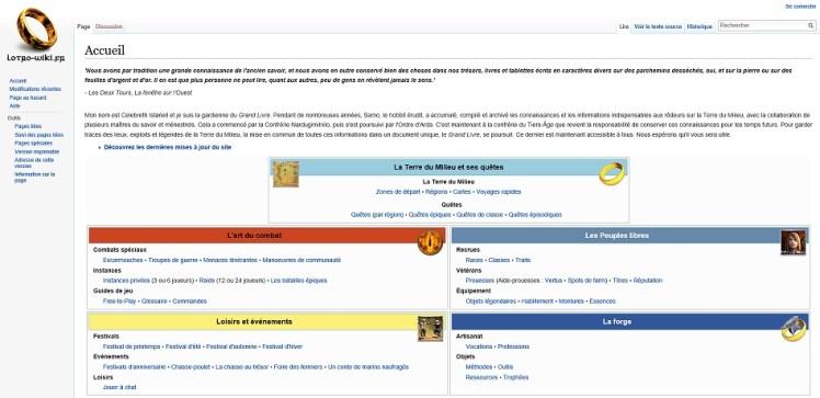 Lotro-Wiki a 3 ans entrée site