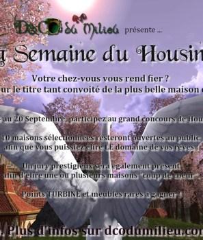 Concours : Première semaine du Housing