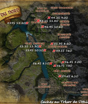 Les caches au trésor de l'Ithilien du Nord