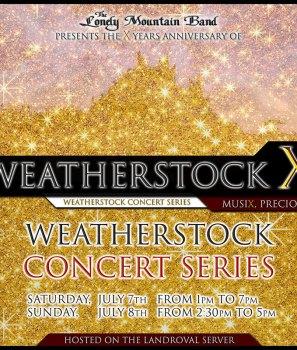 Les Weatherstock Concerts Series, c'est ce week-end