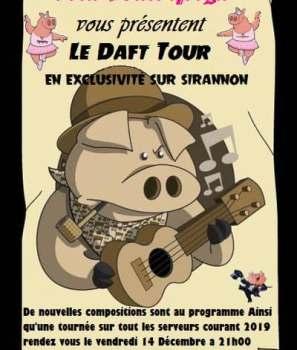 Les Daft Pigs en tournée