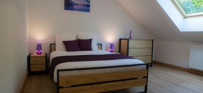 chambre gite violet