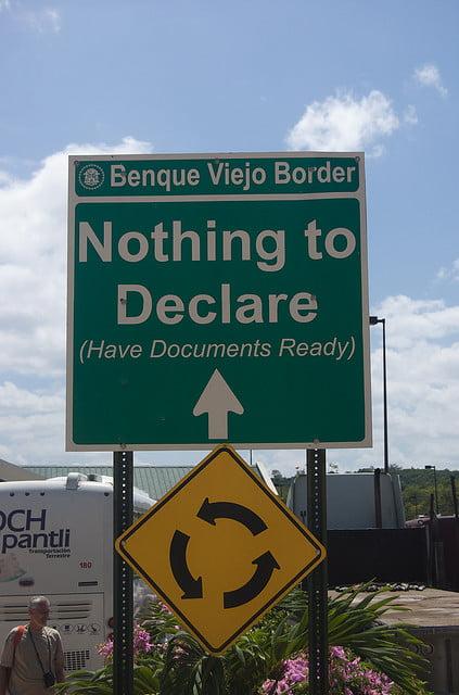 frontière bélize guatemala