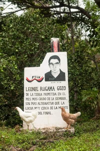 Monument en l'honneur de Leonel Rugama Gozo, Poète mort lors d'affrontement avec la garde nationale