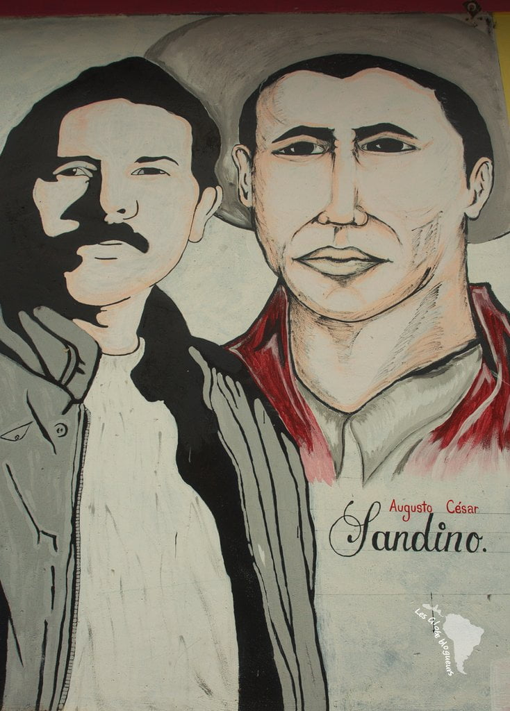 Murales rendant hommage à Sandino à somoto
