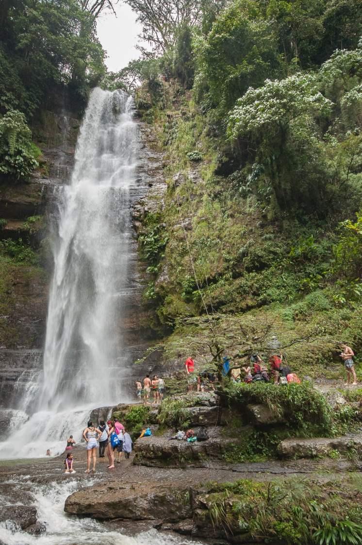 Cascade Juan Curi près de San gil colombie