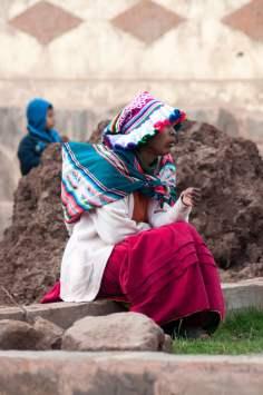 bonnet, fille, péruvienne